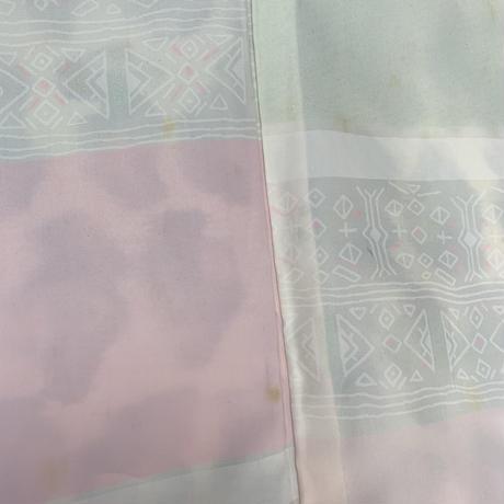 Pebbles pattern MEISEN haori, gray #h002
