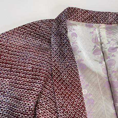 Shell pattern SO-SHIBORI haori, burgundy #h032