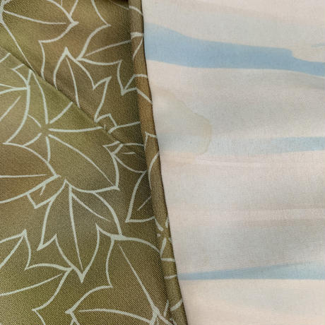 Japanese maple pattern haori, leaf green #h012