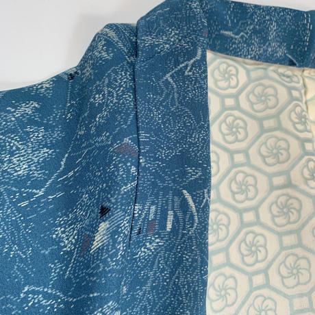 Townspeople woven pattern haori, marin blue #h008