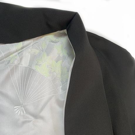 Forest pattern haori, black #h006