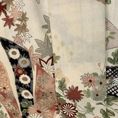 Classic floral pattern haori, ivory #h024