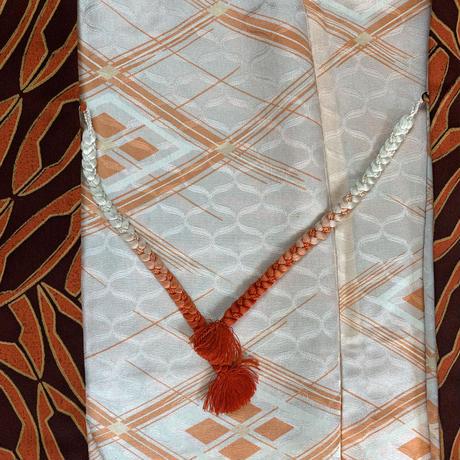 Chain like geometric pattern haori, maroon #h010