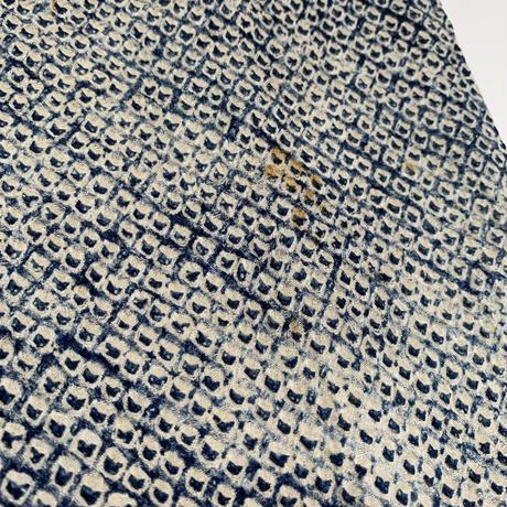 Bamboo pattern SO-SHIBORI haori, indigo/white #h031