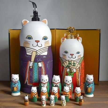 MATRYOSHKA 17sets 猫雛 Cat Hina Doll
