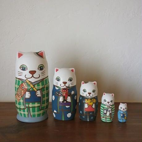 MATRYOSHKA 5sets 端午の節句猫  Boys Festival cat