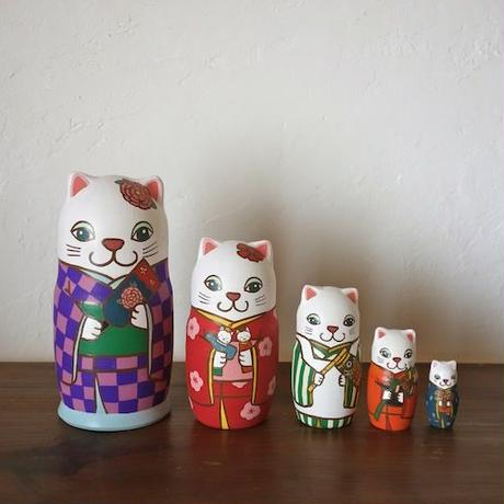 Matryoshka 5sets 五節句猫  Five festivals cat