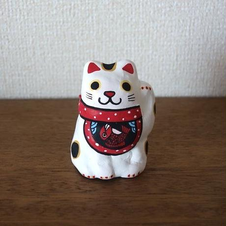 前掛け招き猫土鈴 Claybell of  aproned Lucky Cat