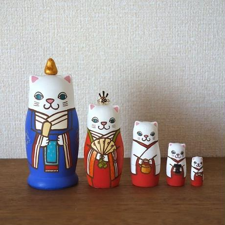 MATRYOSHKA 5sets 猫雛 Cat Hinadoll