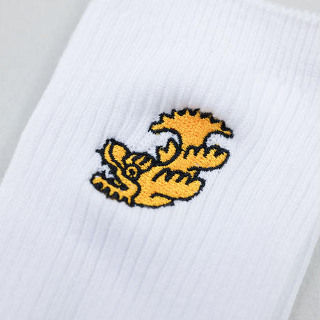 刺繍ソックス(BLK/WHT)