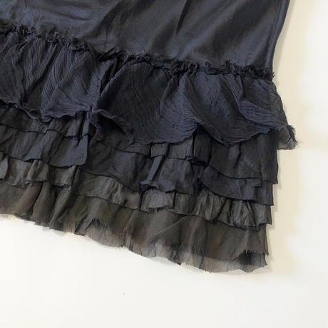 dosa ruffle skirt-midnight-