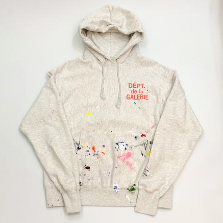 GALLERY DEPT.  FRENCH LOGO HOODIE - LIGHT GREY PAINTED