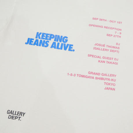 GALLERY DEPT. KEEPING JEANS ALIVE Limited tee