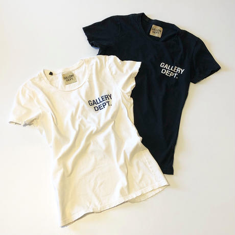 GALLERY DEPT. distressed logo tee for women