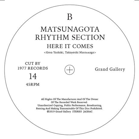 <Grand Gallery×1977>7inch  No.14 LOVERS ROCK NITE CREW/MATSUNAGOTA RHYTHM SECTION  limited 50