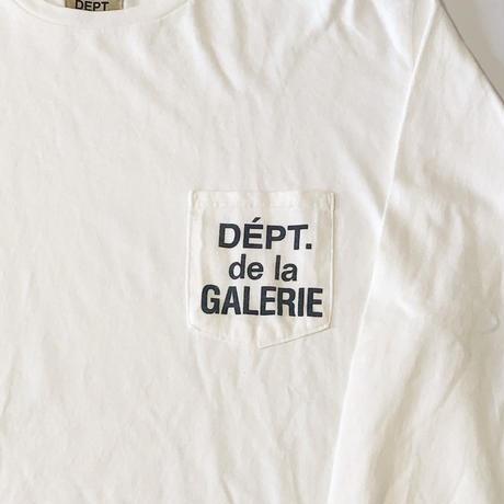 GALLERY DEPT. DEPT DE LA GALERIE L/S POCKET TEE - WHITE