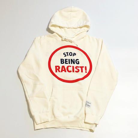 Gallery Dept Stop Being Racist Hoodie - Cream