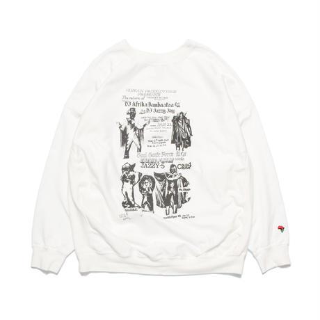 JAZZY JAY/SOUL SONIC FORCE/COLD CRUSH 4 flyer print sweatshirt