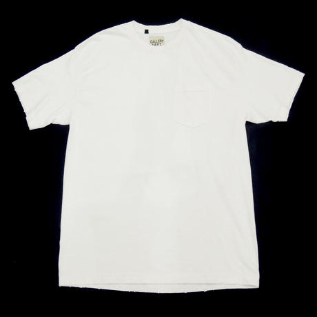 GALLERY DEPT. Plain Distressed Tee white