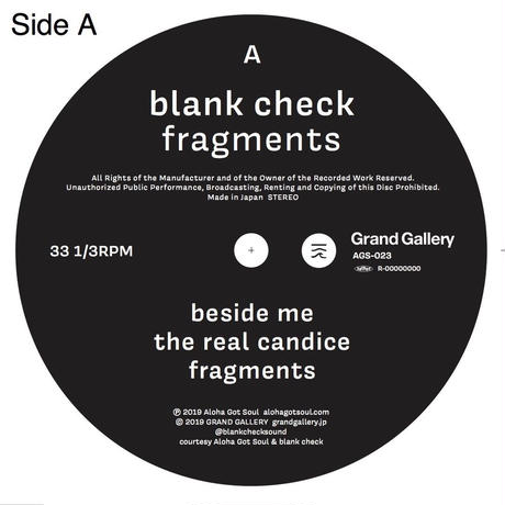 "Blank Check_fragments ep(10"")  Tシャツセット"