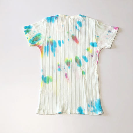YOUNG&OLSEN BROAD RIB T-SHIRT(TIE DYE BLUE)