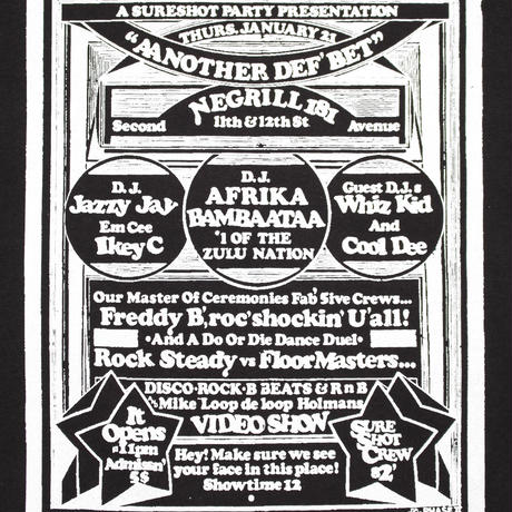 Afrika Bambaataa-Phase2 flyer T-SHIRT(BLACK)