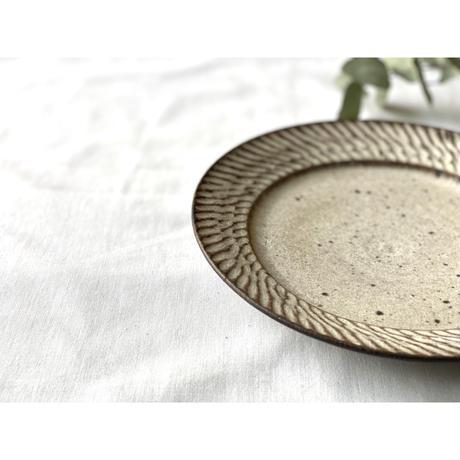 【山本雅則】リムプレート(平皿) 7寸