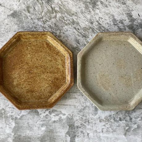 【庄司理恵】粉引 八角小皿