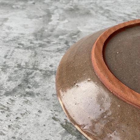 【宮野さとみ】スリップ皿 7寸