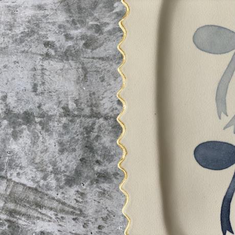 【桂さえか】染つけフリルレクタングルプレート