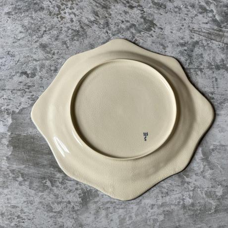 【桂さえか】波リム皿