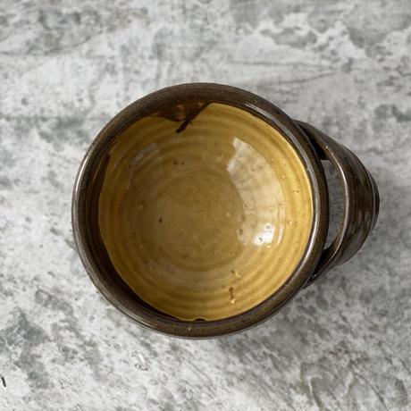 【宮野さとみ】スープボウル こげ茶