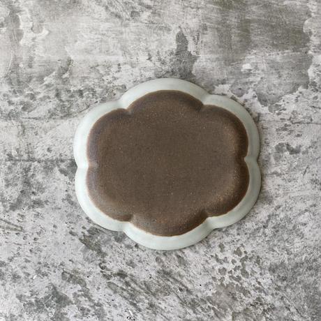 【中林範夫】楕円花皿 白 5寸