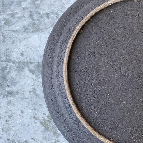 【伊藤豊】土化粧7.5寸プレート 黒
