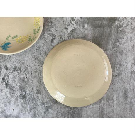 【つちのわ】ミモザ皿 15㎝