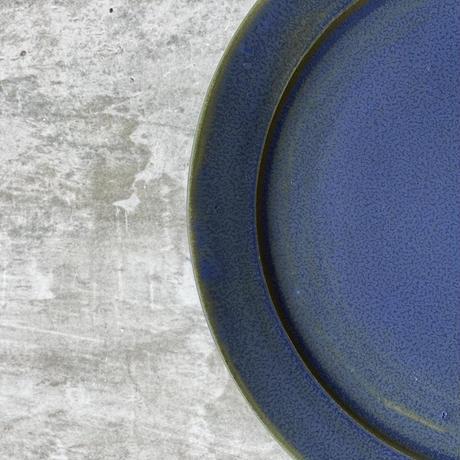 【塚本友太】22.5cmリム皿  白/緑/黒/青緑