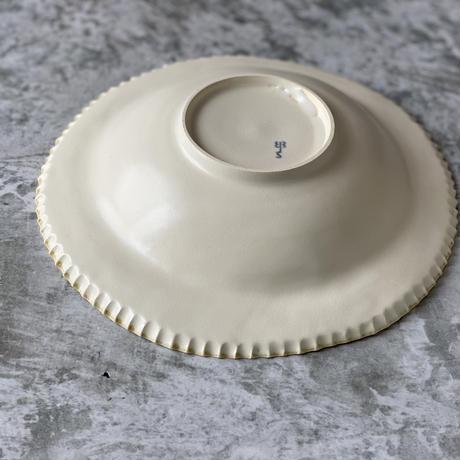 【桂さえか】染付け丸リム皿(菜の花)