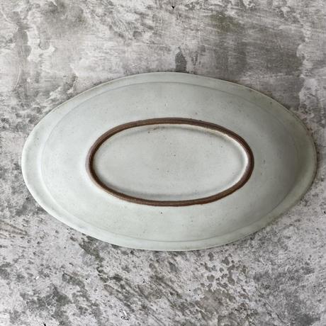 【中林範夫】楕円パスタ皿 白