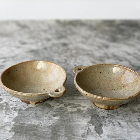 【庄司理恵】粉引 手付き小鉢