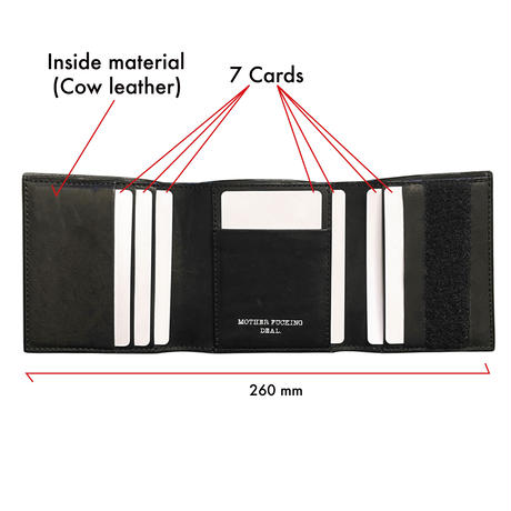 Velcro stitch less card case .