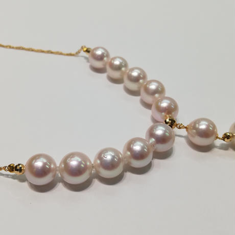 K18 あこや真珠 ネックレス