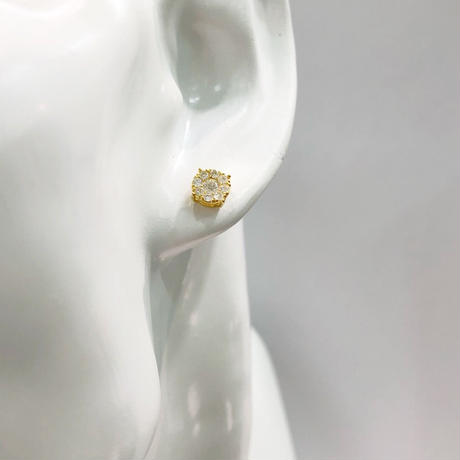 ゴールド ダイヤモンド ピアス
