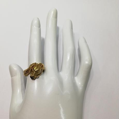 ゴールド ブラックダイヤモンド  リング