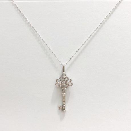 ホワイトゴールド ダイヤモンド ネックレス