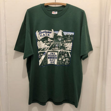 90's MANCHESTER GATE Print Tee