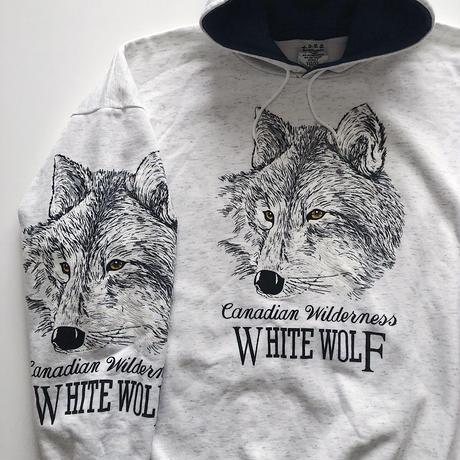 90's WHITE WOLF SWEAT HOODIE