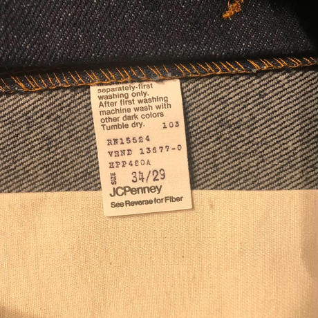 DEADSTOCK   J.C.  Penney  Plain Pockets  Denim Pants