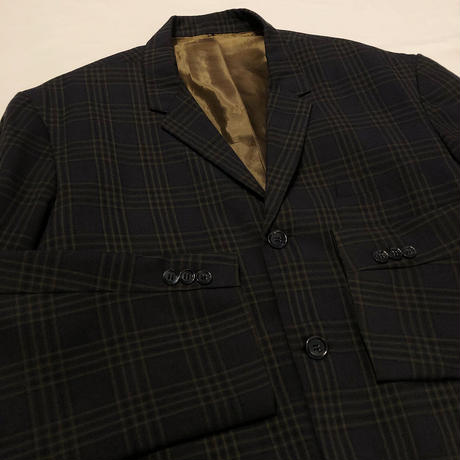 60'S Vintage  Check  Tailored Jacket