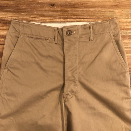 40's U.S.Military  Chino Trousers  45 KHAKI