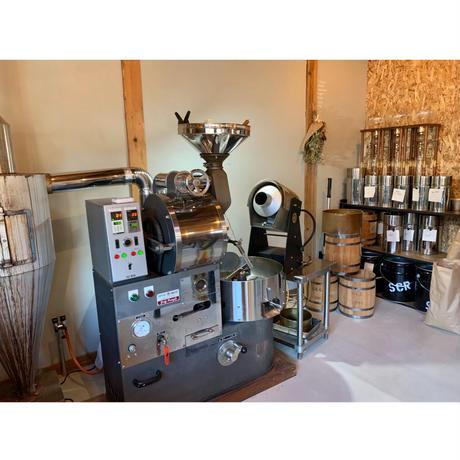 父の日ギフト ◎郡上本藍染/立体マスク(麻) × supple coffee roaster/珈琲豆100g